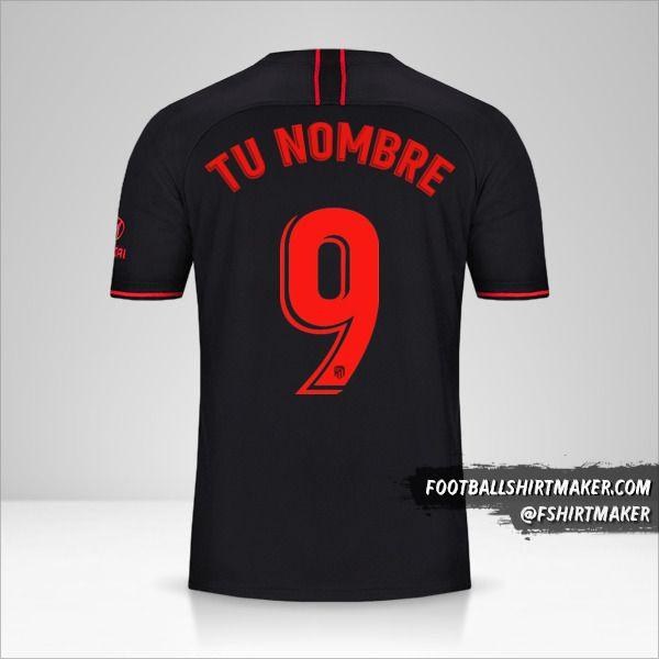 Camiseta Atletico Madrid 2019/20 II número 9 tu nombre