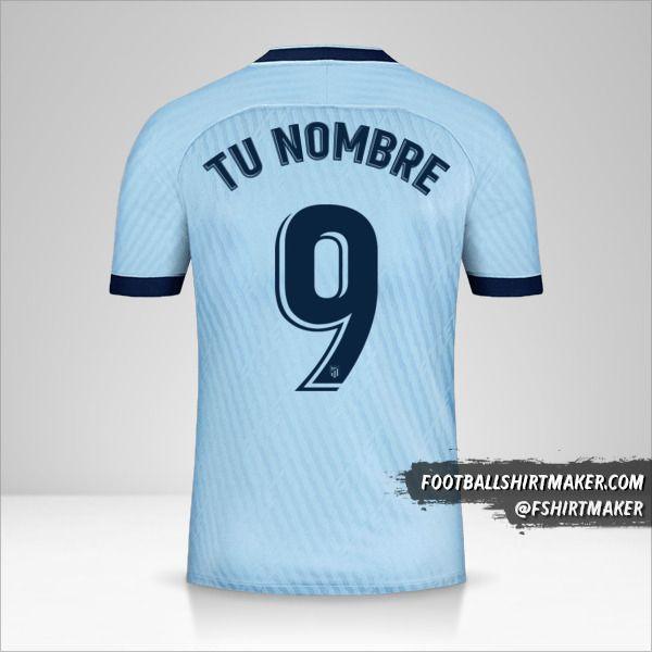 Camiseta Atletico Madrid 2019/20 III número 9 tu nombre
