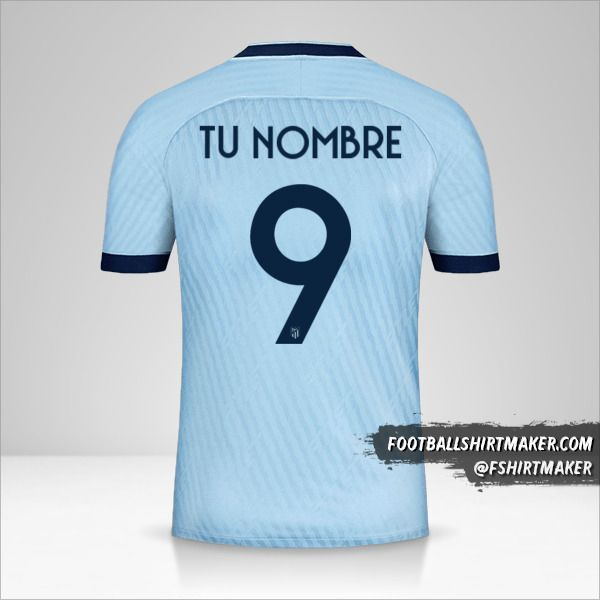 Camiseta Atletico Madrid 2019/20 Cup III número 9 tu nombre