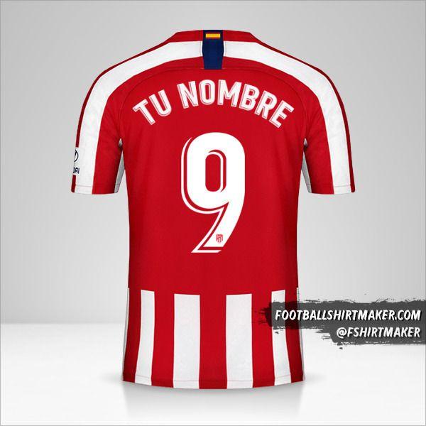 Camiseta Atletico Madrid 2019/20 número 9 tu nombre