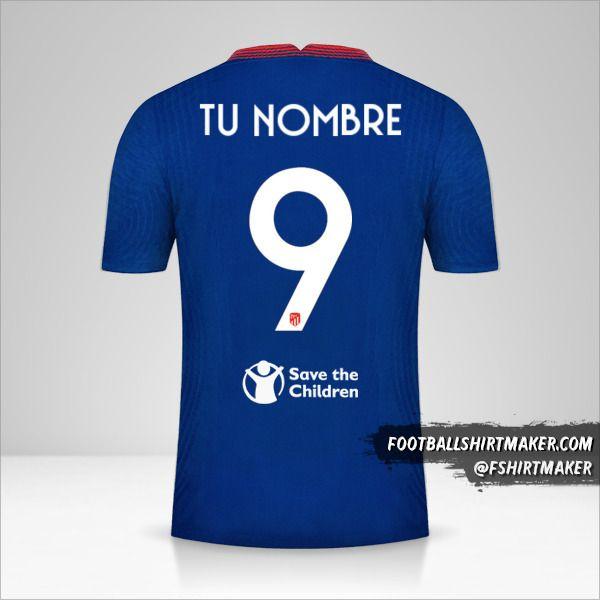 Camiseta Atletico Madrid 2020/21 Cup II número 9 tu nombre