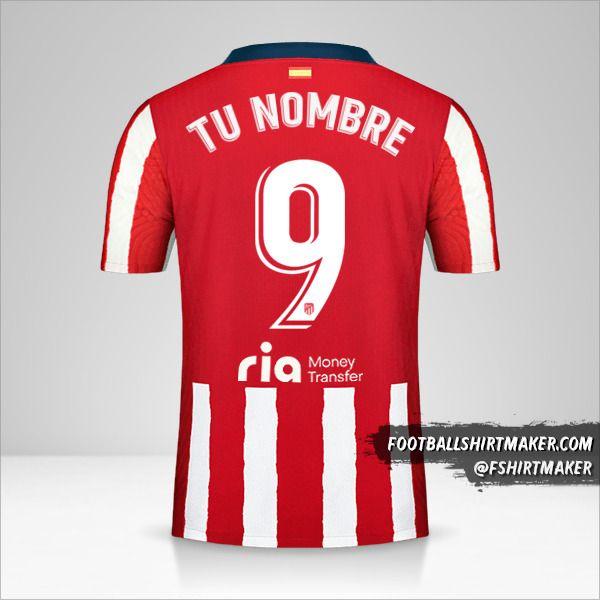 Camiseta Atletico Madrid 2020/21 número 9 tu nombre