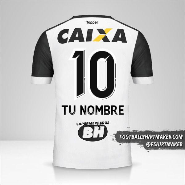 Camiseta Atletico Mineiro 2017 II número 10 tu nombre