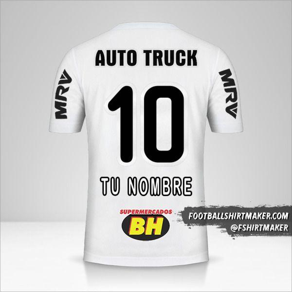 Camiseta Atletico Mineiro 2019 II número 10 tu nombre