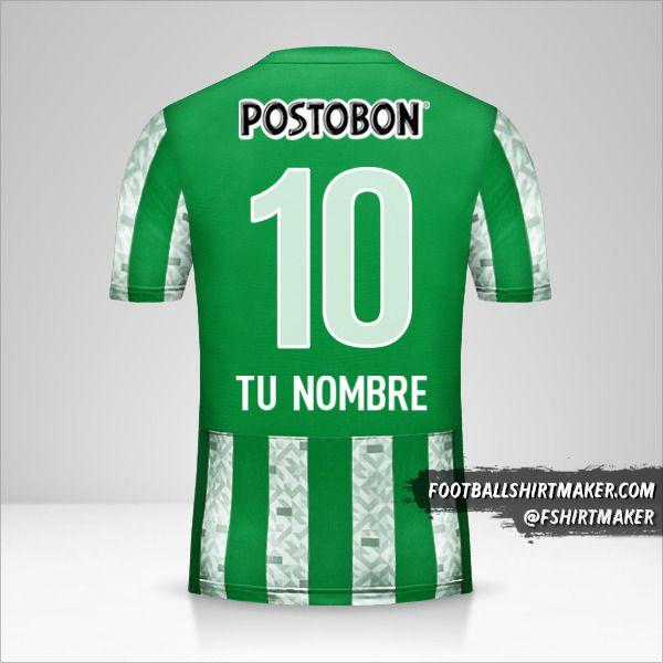 Camiseta Atletico Nacional 2014 número 10 tu nombre