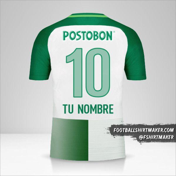 Camiseta Atletico Nacional 2017 número 10 tu nombre