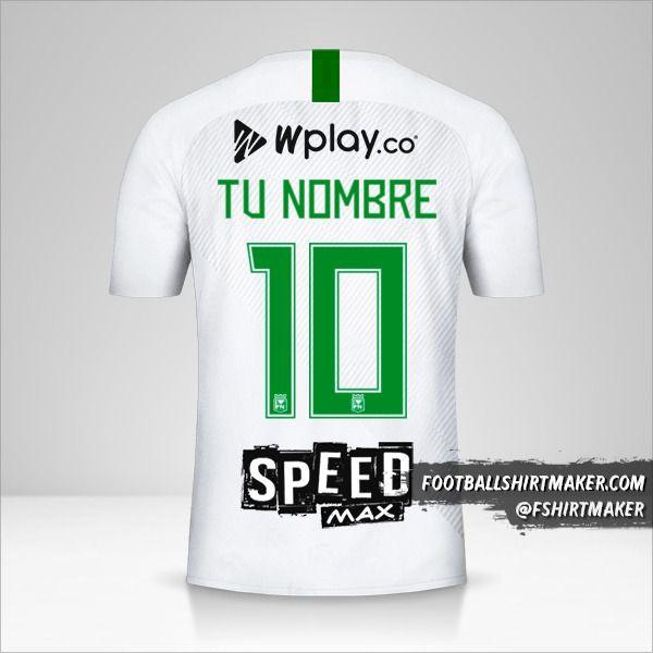 Camiseta Atletico Nacional 2019 II número 10 tu nombre