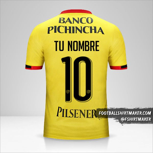 Camiseta Barcelona SC  2016 número 10 tu nombre