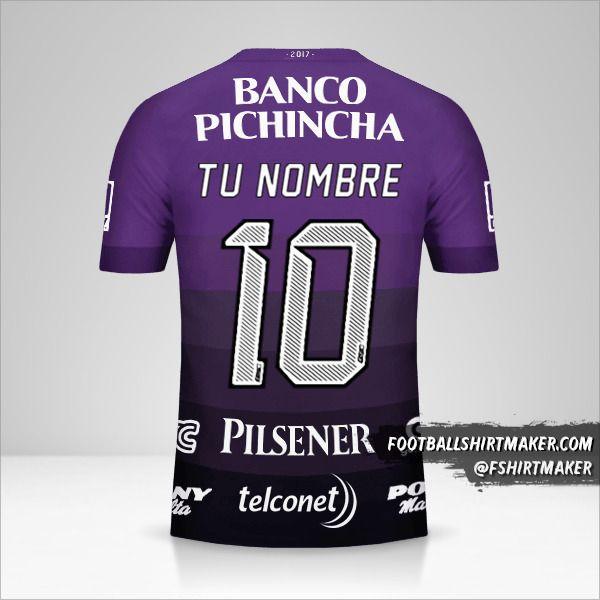 Camiseta Barcelona SC 2017 II número 10 tu nombre