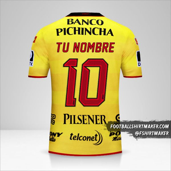 Camiseta Barcelona SC 2017 número 10 tu nombre