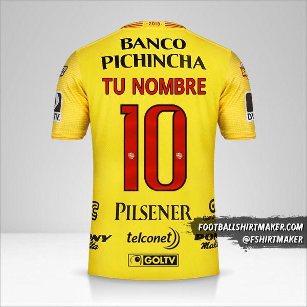 Camiseta Barcelona SC 2018 número 10 tu nombre