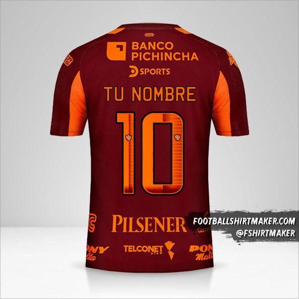 Camiseta Barcelona SC 2019 II número 10 tu nombre