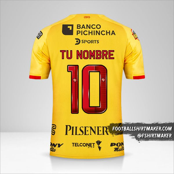 Camiseta Barcelona SC 2019 número 10 tu nombre