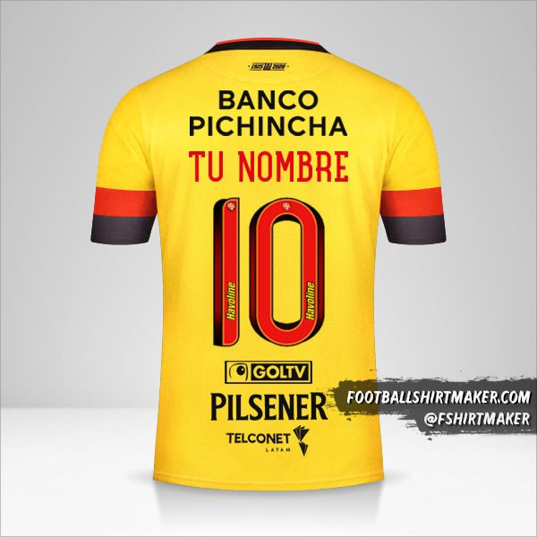 Camiseta Barcelona SC 2020 número 10 tu nombre