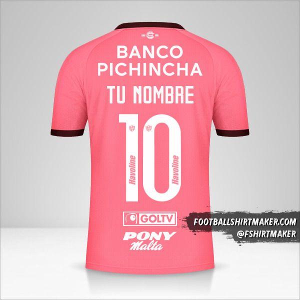 Camiseta Barcelona SC 2021 II número 10 tu nombre