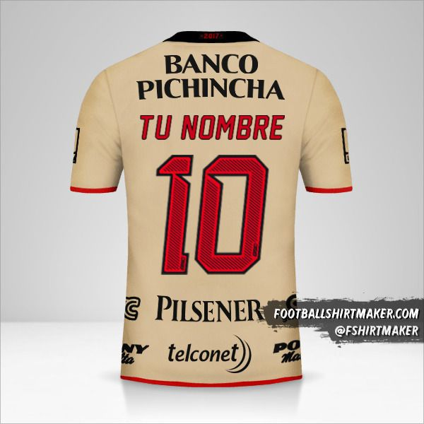 Camiseta Barcelona SC 92 Años número 10 tu nombre