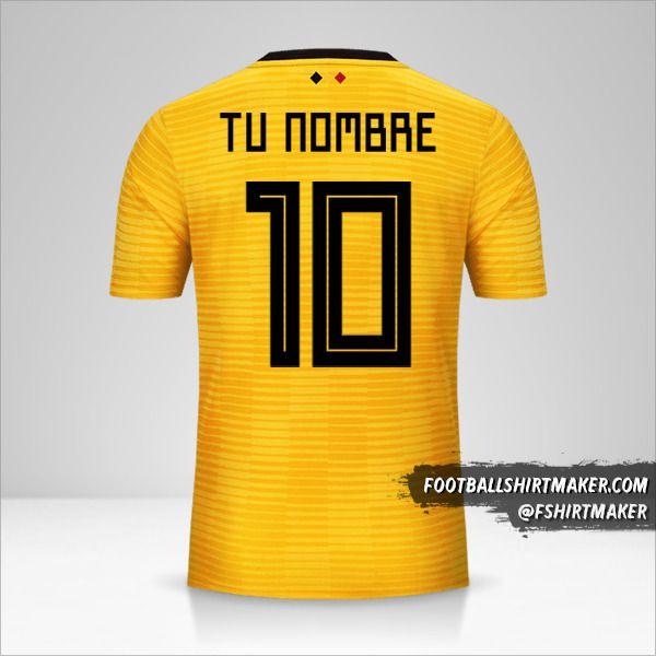Camiseta Belgica 2018 II número 10 tu nombre