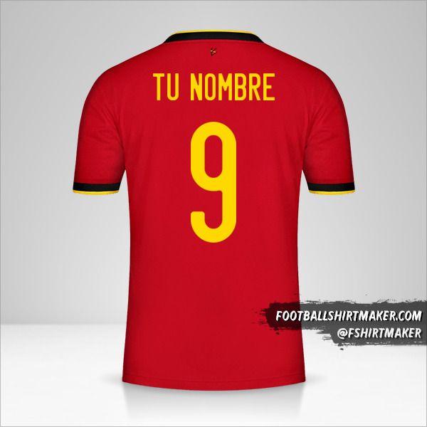 Camiseta Belgica 2020/2021 número 9 tu nombre