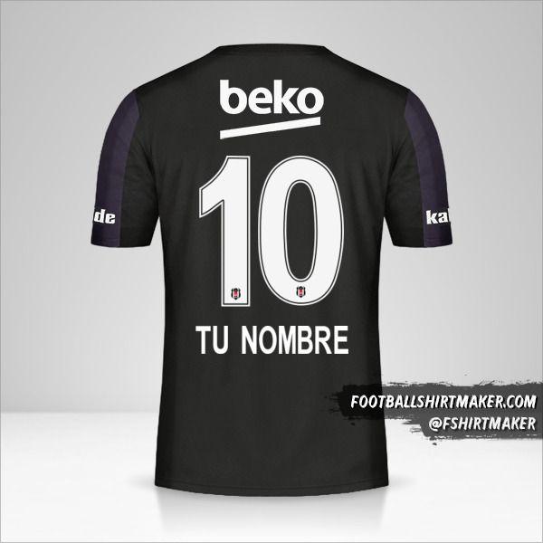 Camiseta Besiktas JK 2018/19 II número 10 tu nombre
