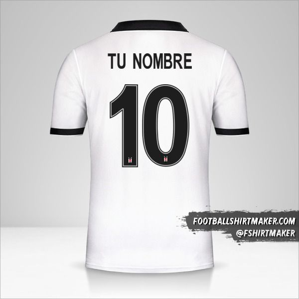 Camiseta Besiktas JK 2018/19 Cup número 10 tu nombre