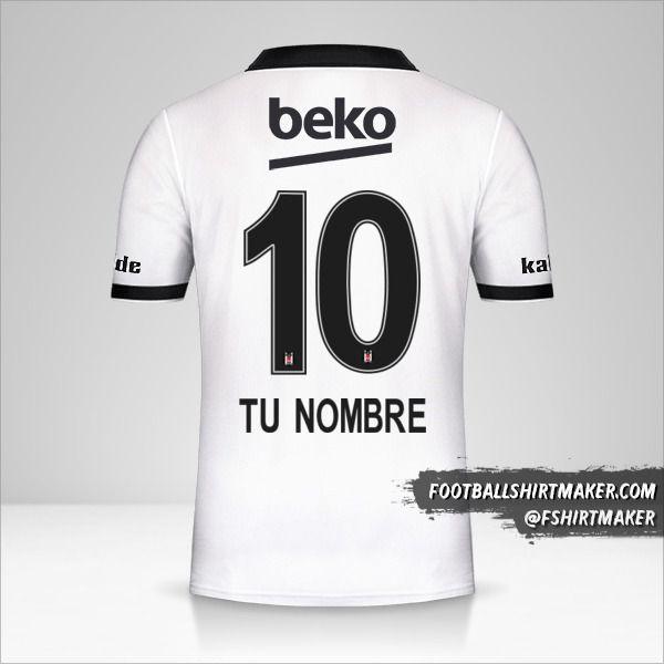 Camiseta Besiktas JK 2018/19 número 10 tu nombre
