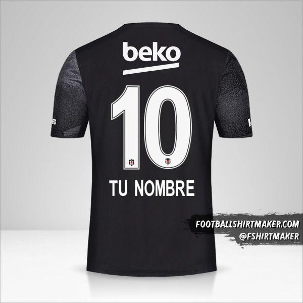 Camiseta Besiktas JK 2019/20 II número 10 tu nombre