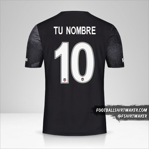 Camiseta Besiktas JK 2019/20 Cup II número 10 tu nombre