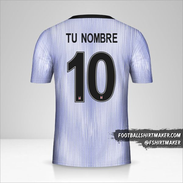 Camiseta Besiktas JK 2019/20 Cup III número 10 tu nombre