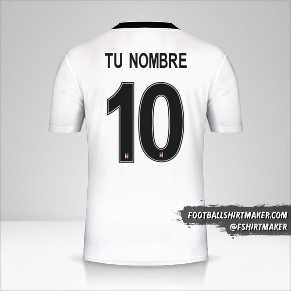Camiseta Besiktas JK 2019/20 Cup número 10 tu nombre