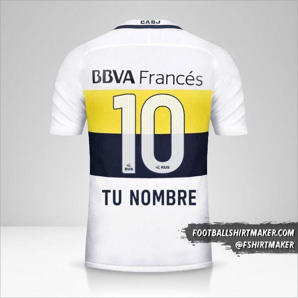 Camiseta Boca Juniors 2016/17 II número 10 tu nombre