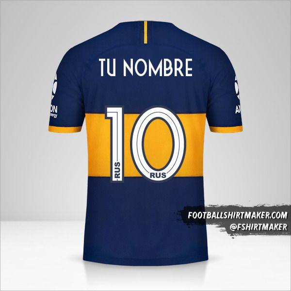 Camiseta Boca Juniors 2019/20 número 10 tu nombre
