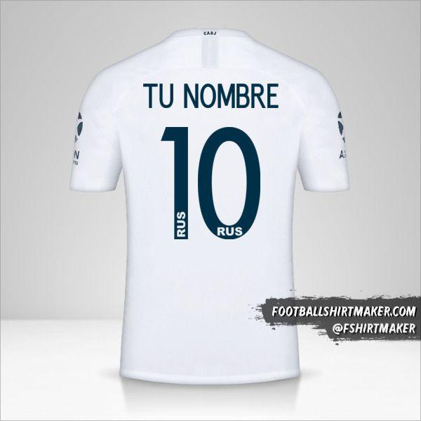 Camiseta Boca Juniors Libertadores 2019 II número 10 tu nombre