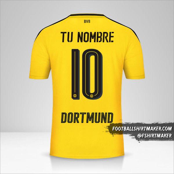 Camiseta Borussia Dortmund 2016/17 número 10 tu nombre