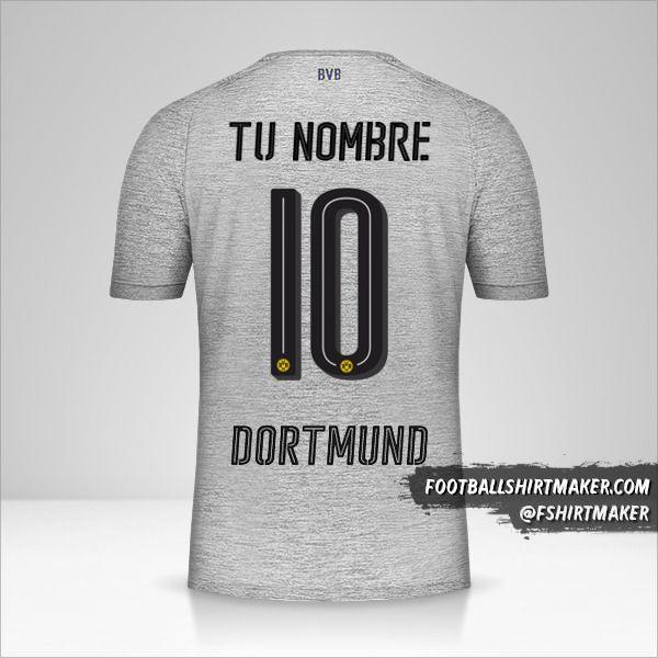 Camiseta Borussia Dortmund 2017/18 III número 10 tu nombre