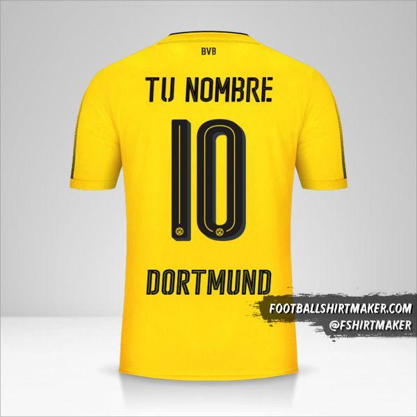 Camiseta Borussia Dortmund 2017/18 número 10 tu nombre