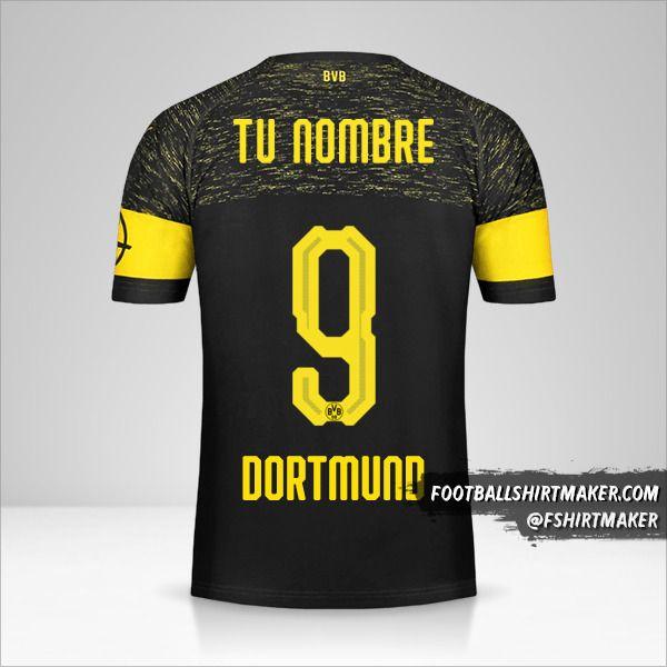 Camiseta Borussia Dortmund 2018/19 II número 9 tu nombre