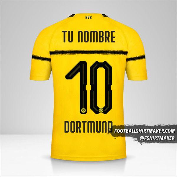 Camiseta Borussia Dortmund 2018/19 Cup número 10 tu nombre