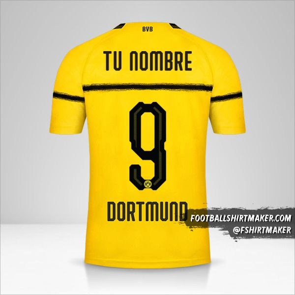 Camiseta Borussia Dortmund 2018/19 Cup número 9 tu nombre