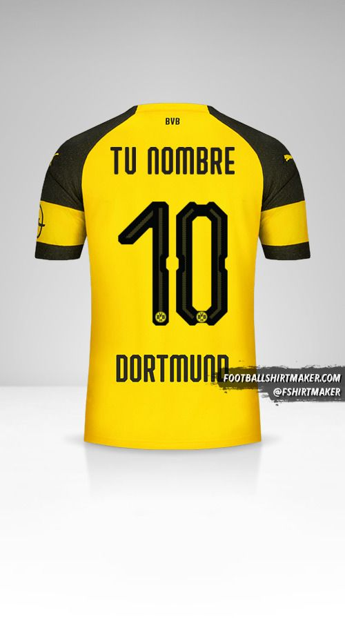 Camiseta Borussia Dortmund 2018/19 número 10 tu nombre