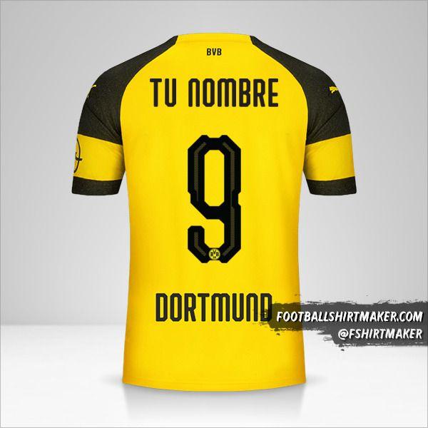 Camiseta Borussia Dortmund 2018/19 número 9 tu nombre