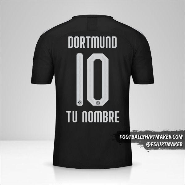 Camiseta Borussia Dortmund 2019/20 II número 10 tu nombre