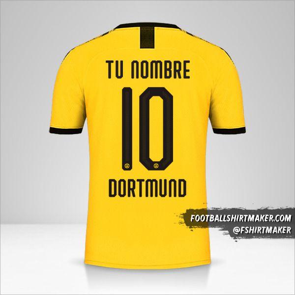 Camiseta Borussia Dortmund 2019/20 Cup I número 10 tu nombre