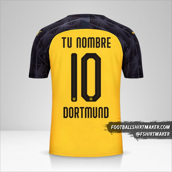 Camiseta Borussia Dortmund 2019/20 Cup número 10 tu nombre