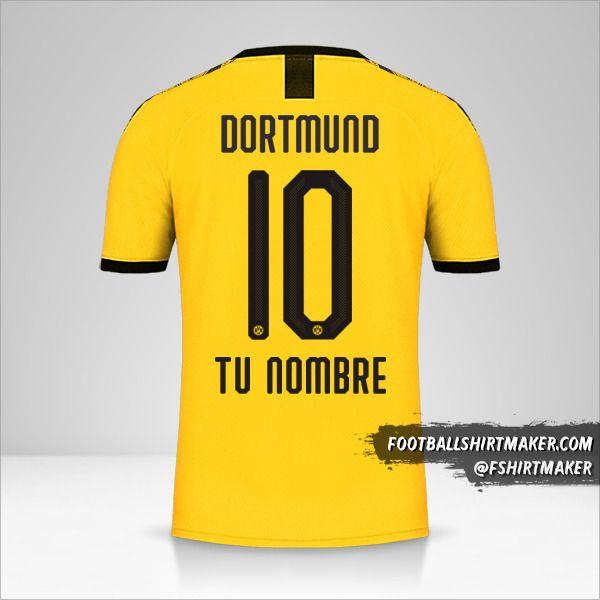 Camiseta Borussia Dortmund 2019/20 número 10 tu nombre