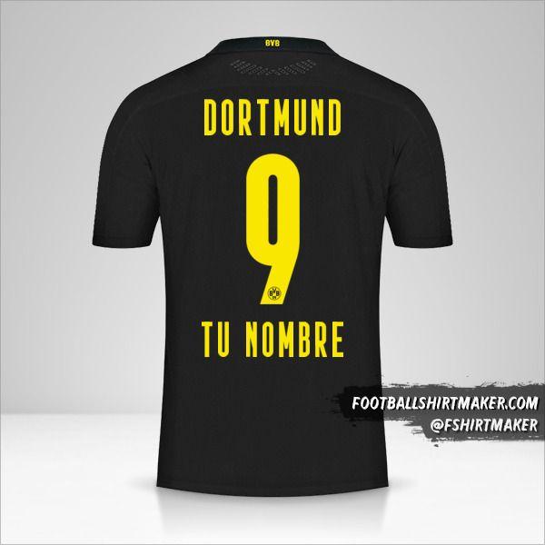 Camiseta Borussia Dortmund 2020/21 II número 9 tu nombre