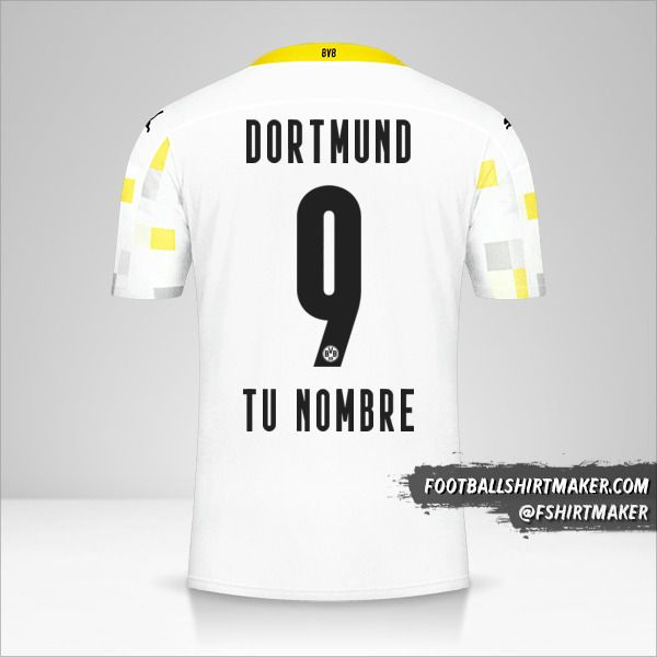 Camiseta Borussia Dortmund 2020/21 III número 9 tu nombre