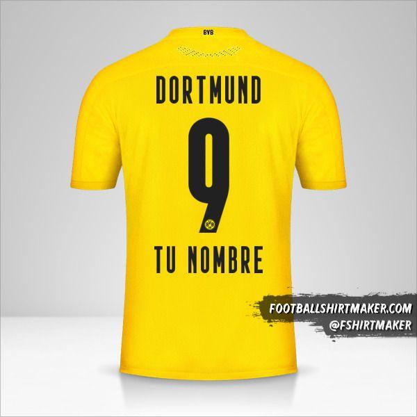 Camiseta Borussia Dortmund 2020/21 número 9 tu nombre