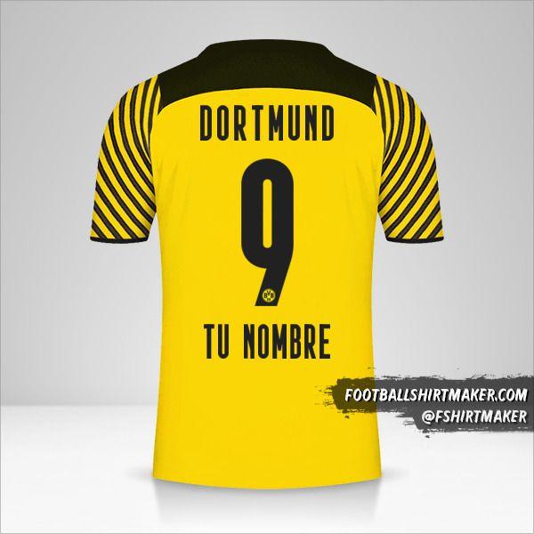 Camiseta Borussia Dortmund 2021/2022 número 9 tu nombre