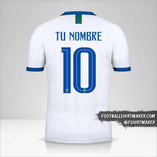 Camiseta Brasil 2019 III número 10 tu nombre