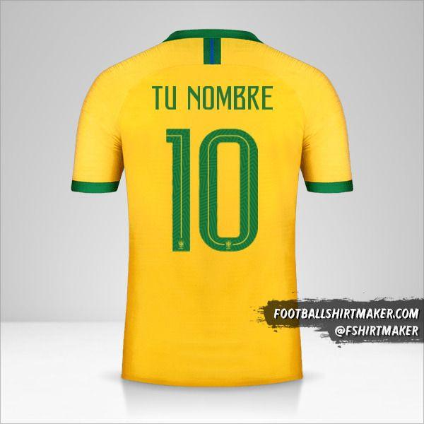 Camiseta Brasil 2019 número 10 tu nombre
